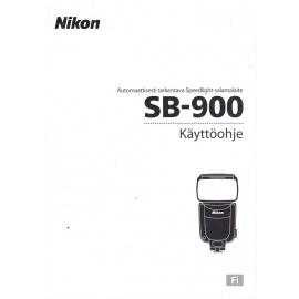 Nikon SB-900 - Käyttöohje (FI)