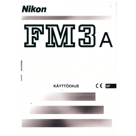 Nikon FM3a - Instructions (FI)