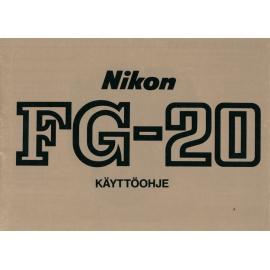 Nikon FG-20 - Instructions (FI)
