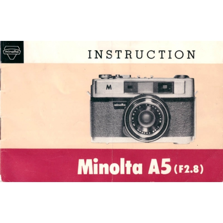 Minolta A5 - Instruction