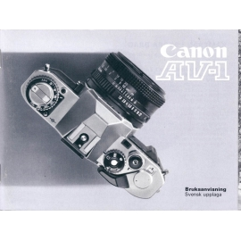 Canon AV-1 instruction manual (SWE)