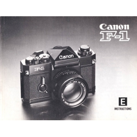 Canon F-1 Instructions