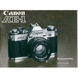 Canon AE-1 - Bruksanvisning