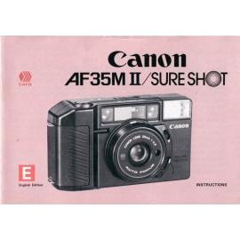 Canon AF35M II / Sure Shot - Instructions