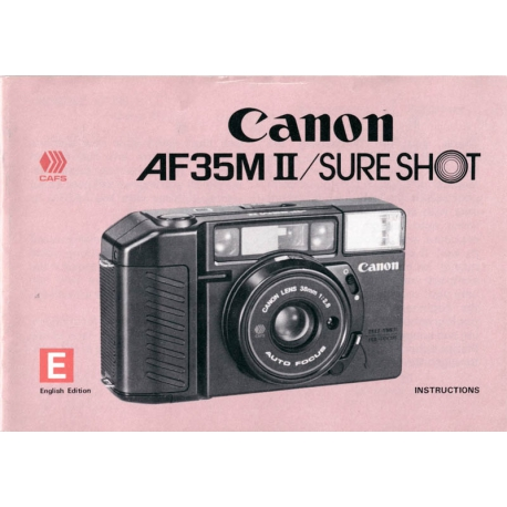 Canon AF35M II / Sure Shot - Instructions