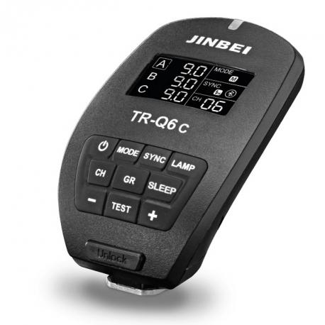 Jinbei TR-Q6C TTL radiolaukaisin Canon  kamera / Jinbei studiosalamat