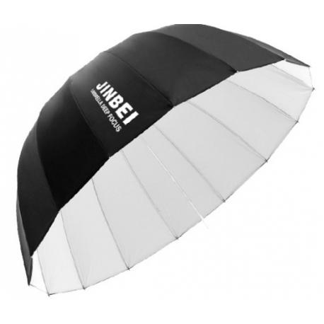 Jinbei Deep Focus sateenvarjo, valkoinen, 85 cm