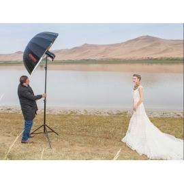 Jinbei Deep Focus sateenvarjo 85 cm, hopea