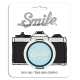 Smile 55mm lens cap - Atomic Age