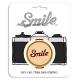 Smile 58mm lens cap - Retro