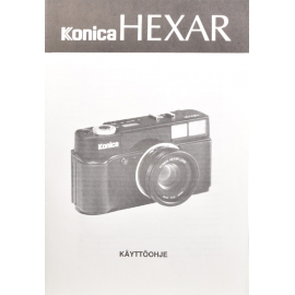 Konica Hexar instructions (FIN)