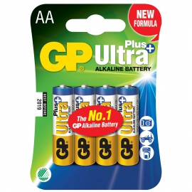 GP Ultra Plus AA / LR6 Alkaline battery 4 kpl