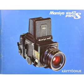Mamiya RB67 Pro S instructions (FIN)