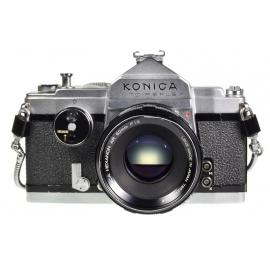 Konica Auto-Reflex + 52mm f/1.8 Hexanon AR