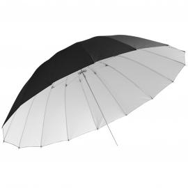 Jinbei jättikokoinen 180cm sateenvarjo heijastava valkoinen