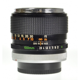 "Canon FD 100mm f/2.8 ""Chrome Nose"""