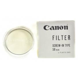 Canon 58mm UV 1X Filter