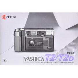 Yashica T2 / T2D käyttöohje (EN/DE/FR/ES)