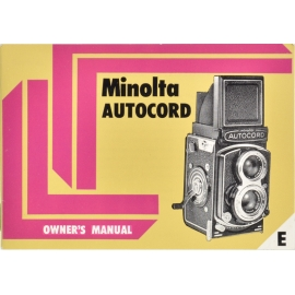 Minolta Autocord - Owner's Manual