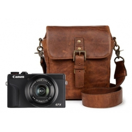 Canon Powershot G7X Mark III + ONA Bond Street Antique cognac
