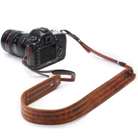 ONAbag Presidio Antique cognac camera strap