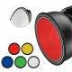 Jinbei EF LED spot Snoot värikalvoilla