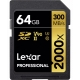 LEXAR Pro 64GB 2000X SDHC/SDXC UHS-II U3 (V90) - 300mb/s memory card