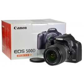 Canon EOS 500D + EF-S 18-55mm f/3.5-5.6 IS + 4GB SD