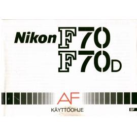 Nikon F70 F70D Käyttöopas