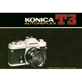 Konica Autoreflex T3 Instructions