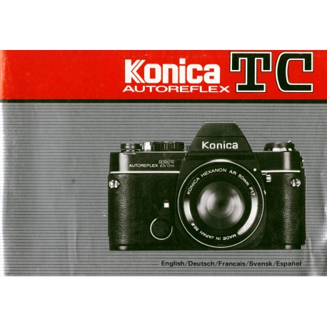 Konica TC Autoreflex Instructions