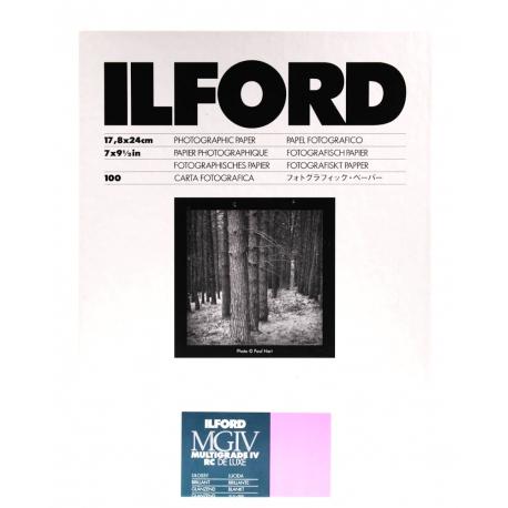 Ilford MULTIGRADE IV RC DE LUXE - Kiiltäväpintainen Valokuvapaperi 17.8 x 24cm/100 kpl