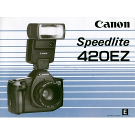 Canon Speedlite 420EZ - Instructions