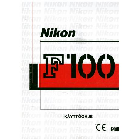 Nikon F100 - Käyttöohje