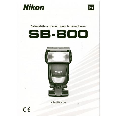 Nikon SB-800 - Käyttöohje