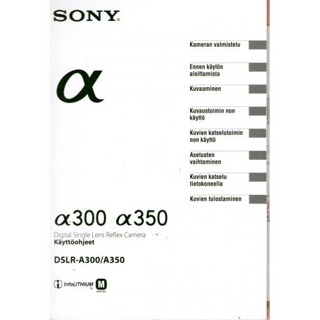 Sony a300/a350 - Käyttöohje