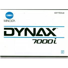 Minolta Dynax 7000i - Käyttöohje