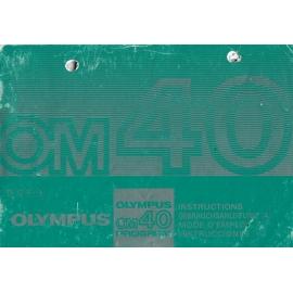 Olympus OM40 Program - Instructions