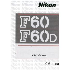 Nikon F60/F60D - Käyttöohje