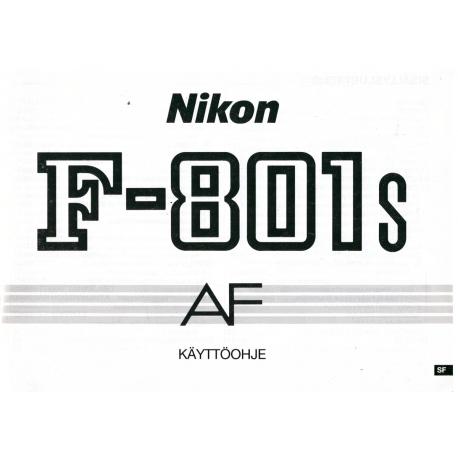 Nikon F-801s - Käyttöohje
