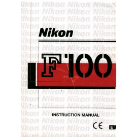 Nikon F100 - Instruction Manual