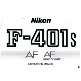 Nikon F-401s AF AF Quartz date - Instructions