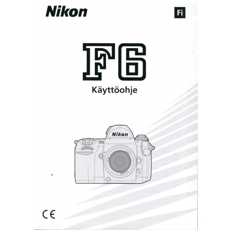 Nikon F6 - Instructions (In Finnish)