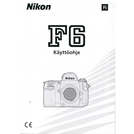 Nikon F6 - Käyttöohje