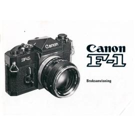 Canon F-1 - Bruksanvisning