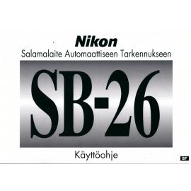 Nikon SB-26 käyttöohje