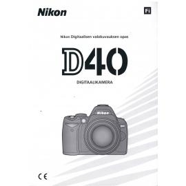 Nikon D40 käyttöohje