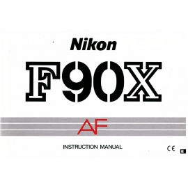 Nikon F90X AF - käyttöohje englanniksi