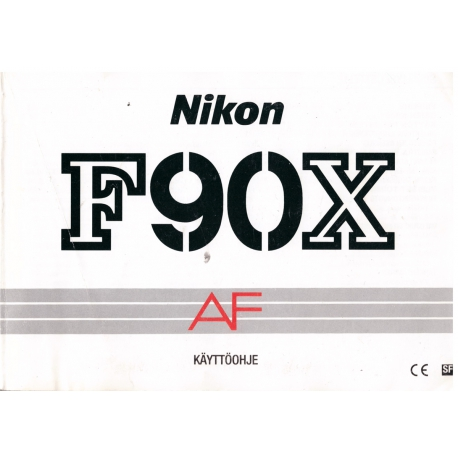 Nikon F90X AF - instructions in Finnish